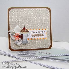 CTMH Babycakes and August stamp of the month A Chocolate Affair by Stamping Rules!