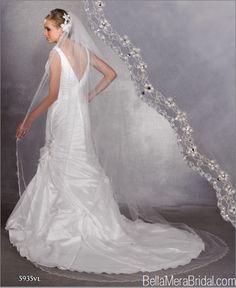 Symphony Bridal Style 5935VL Beaded Edge Wedding Veil
