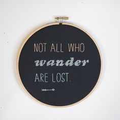 Not All Who Wander Are Lost Black Wall Hanging by RugglesMade, $43.00