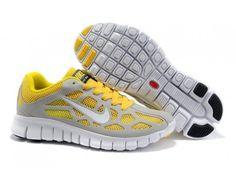 online store f1d23 00b2d Popular Grey Yellowed Women Nike Free Run 3 Clearance