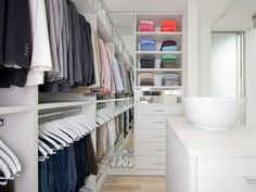 Walk In Closet, Suite System in White