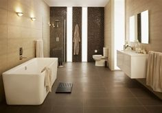 Bathroom - grey and white simple