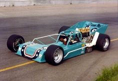 Jim Shampine was always my favorite at Oswego Speedway as a kid, because he had a turquoise car with an on it. Cool Car Pictures, American Racing, Old Race Cars, Sprint Cars, Sports Car Racing, Vintage Race Car, Unique Cars, Indy Cars, Drag Cars