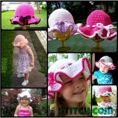 Who's ready for some family fun? These awesome sun hats are perfect for the entire family. #Crochet them for yourself and your little ones so the next time you're in the sun you don't have to be blinded by it.