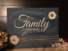 Sweet #canvas project with #uppercaseliving #vinyl lettering, #burlap flowers…
