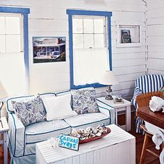 10 Steps to Classic Cottage Style   Know Your Limits   CoastalLiving.com. Add blue to the mix and what can be bad?