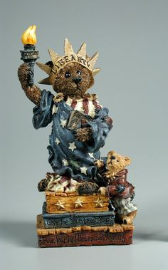 Boyds Bears & Friends--The Bearstone Collection: Ms. Libearty... Wants You Too! | figurine | More Play Stuff | More | National Museum of Play Online Collections | The Strong