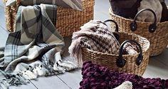 baskets of blankets