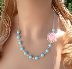 Elegant Bridal/Bridesmaid Jewelry Set  Light  Pink by SunVDesigns, $27.00