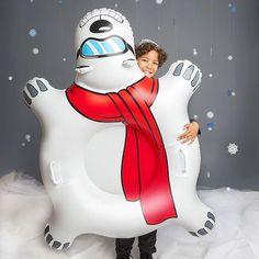 GIANT POLAR BEAR Inflatable Snow Tube Winter Sled Ride Pool Float Worldwide Ship #BigMouthInc