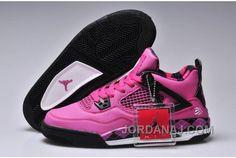 Nike Air Jordan 4 IV Free Womens Shoes Fushia Black M4j5312