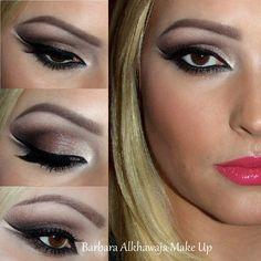 Smoky cat eye - #smokyeyes #cateye #eyemakeup #eyeshadow #alkhawaja - Bellashoot.com & bellashoot iPhone & iPad app