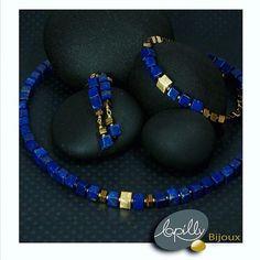 ----- E-shop www.lapilly.com -----  La collection cube de Lapilly bijoux est à découvrir sur notre site www.lapilly.com #lapislazuli #cube #bijoux #jawerly #collier #boucledoreille #bracelet #blue #bleuroi #bohemechic #summer #mode #vertu #pierressemiprecieuses #lapilly #lapillybijoux #or #precieux #collection2016 Lapis Lazuli, Bracelets, Flip Flops, Sandals, Blue, Stone, Instagram, Inspiration, Collection