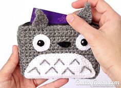 Totoro crochet wallet with two compartments Finished por BuddyRumi