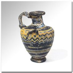 Phoenician Core-formed Glass Hydria, c. 4th-3rd Century B.C.