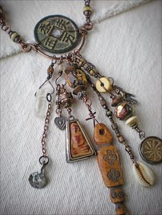 Shaman Amulet Necklace by maggiezees on Etsy
