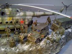 This military plastic model diorama has just about everything you could look for in a display @ http://www.hobbylinc.com/plastic-model-dioramas