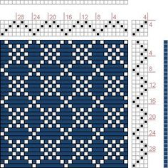 Hand Weaving Draft: Four Shaft Waffle, , 4S, 4T - Handweaving.net Hand Weaving and Draft Archive