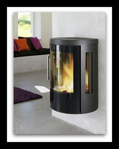 Scan 45 mini on a circular steel hearth wood burning stove installation from Kernow Fires. Stove Fireplace, Fireplace Wall, Fireplace Ideas, Foyers, Stove Installation, Small Doors, Lounge Design, Wood Burner, Wood Wall