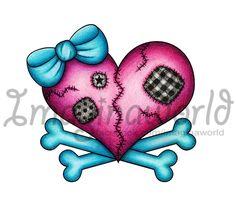 Heart -n- Crossbones Tattoo by imaginaworld