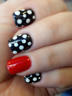 Or this would be adorable. But red with the polka dot as accent and a silver sparkle accent too