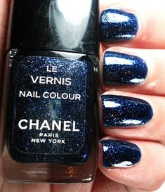 Chanel Ciel De Nuit nail lacquer. Vintage from the 1990's, and I still have mine! (by Kaz Needs A Nap, via Flickr)