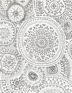 Study break ~ by slightlysymmetric. Nice use of negative space Pretty Patterns, Color Patterns, White Patterns, Pattern Art, Pattern Design, Grey Pattern, Motif Oriental, Study Break, Pattern Illustration