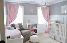 With lavendar instead of pink...Bring Up Baby In Style From Day One - 30 Lovely Girl Nursery Room Design Ideas