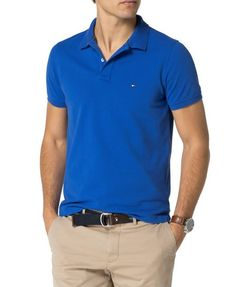 Men's Tommy Hilfiger Slim Fit Polo Top, Blue