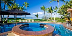 4 Bedroom Beachfront Holiday Home with Pool in Maui, Hawaii Luxury Villa Rentals, Pool Houses, Vacation Villas, Rental Apartments, Maui, Ideal Home, Condo, Places, Outdoor Decor