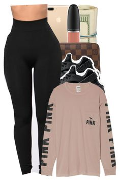 """Untitled #193"" by babygirlkikig ❤ liked on Polyvore featuring MAC Cosmetics, Louis Vuitton, NIKE and Victoria's Secret"
