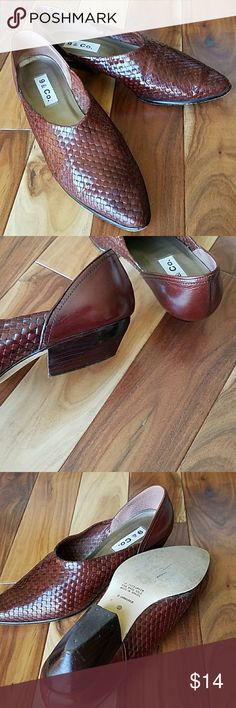 Leather cowboy short boot Made in Brazil textured leather shoe/boots. Low heel, comfortable 8 1/2. Good pre-loved but in good condition. 9 & Co. Shoes Heeled Boots
