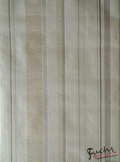 Fehér alapon szürke drapp csíkos  tapéta