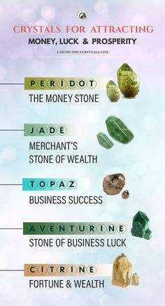 Crystals For Luck, Crystals For Wealth, What Are Crystals, Crystals And Gemstones, Stones And Crystals, Gem Stones, Crystal Guide, Crystal Magic, Crystal Healing Stones