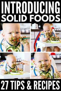 Trendy Baby Food 6 Months Introducing Solids Recipes For 46 Ideas Baby Feeding Chart, Baby Feeding Schedule, Baby Puree Recipes, Baby Food Recipes, Food Baby, Diet Recipes, Baby Led Weaning, Baby Food Containers, Storage Containers
