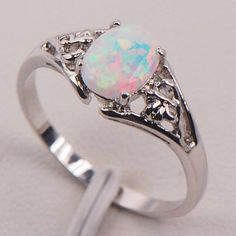 White Fire Opal Silver Gold Filled Gemstone Jewelry Ring Size 5 6 7 8 9 10 11 in Jewelry & Watches, Fashion Jewelry, Rings Opal Gemstone, Gemstone Jewelry, Diamond Jewelry, Gold Jewellery, Jewellery Shops, Diamond Bracelets, Vintage Jewellery, Antique Jewelry, Womens Jewelry Rings