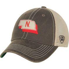 Men's Top of the World Charcoal Nebraska Cornhuskers United Trucker Adjustable Snapback Hat