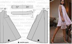 Los vestidos amplios estilo trapecio son muy utilizado por niñas y damas en general. Son muy joviales y sencillos de confeccionar, pues se ajustan sólo a nivel del canesú y sisas para luego ir ensa…