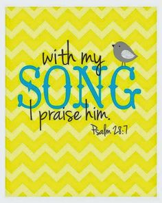 REDE MISSIONÁRIA: WITH MY SONG (PSALM 28:7)