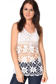 Embellished Crochet Top