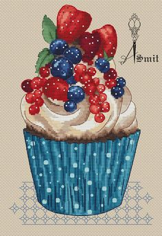 Авторские схемы Cupcake Cross Stitch, Cross Stitch Pillow, Cross Stitch Love, Cross Stitch Flowers, Cross Stitch Designs, Cross Stitch Patterns, Cross Stitching, Cross Stitch Embroidery, Minnie Baby