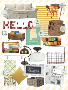 Awesome Inspiration Boards from Ashley at the Handmade Home Nursery Room, Boy Room, Kids Room, Play Spaces, Kid Spaces, Inspiration Boards, Room Inspiration, Colorful Playroom, Home Daycare