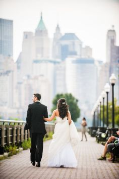 Gorgeous portrait of this awesome bride and groom at their wedding at Liberty House in Jersey City, NJ! #waterfrontweddings #njweddings Photography: W Studios New York - www.wstudiosnewyork.com Read More: http://www.stylemepretty.com/2015/01/26/elegant-summer-wedding-at-liberty-house/