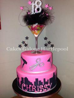 hairdresser cake - Google Search Hair Stylist Cake, Hairdresser Cake, 18th Cake, Cake Cookies, Amazing Cakes, Birthday Cakes, Birthday Ideas, Cake Decorating, Baking