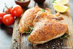 Oven-Baked Chicken Breast Recipe: How to Bake Flavorful Chicken - 2020 - MasterClass Oven Baked Chicken, Baked Chicken Breast, Grilled Chicken, Cooked Chicken, Chicken Breasts, Healthy Chicken, Boneless Chicken, Chicken Sauce Recipes, Food Swap