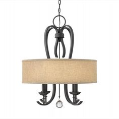 4474TB - Marion 22-inch Textured Black 4-Light Chandelier by Hinkley Lighting