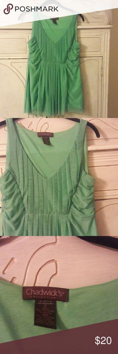 Bright kelly green Top flowy and feminine This Chadwick top is a beautiful color and Breezy and beautiful Chadwicks Tops Blouses