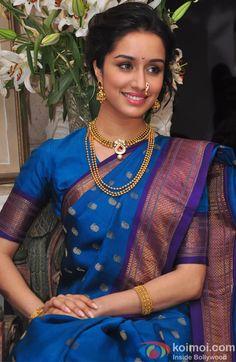 Shraddha Kapoor poses in a Maharashtrian saree Indian Bollywood, Bollywood Fashion, Indian Sarees, Fashion Designer, Indian Designer Wear, Indian Celebrities, Bollywood Celebrities, Indian Attire, Indian Wear