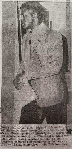 Richard Holmes, first black student at Mississippi State University