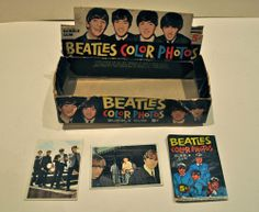 Beatles Color Photos Gum Box & 1 x Wax Color wrapper plus 2 cards